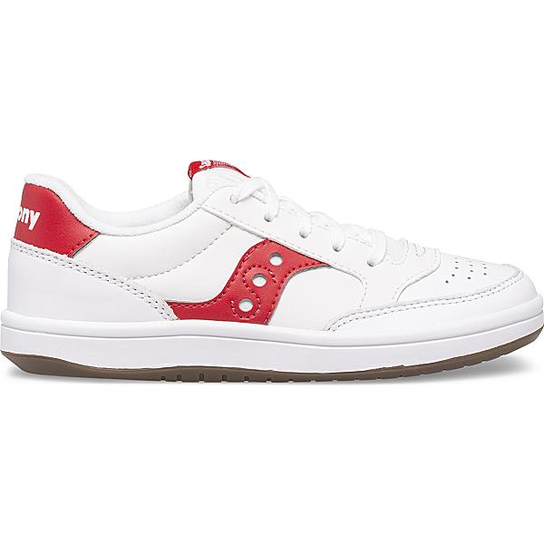 Jazz Court Sneaker, White | Red, dynamic