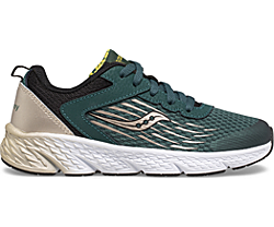 Wind Lace Sneaker, Green | Gold | Black, dynamic