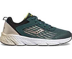 Wind Lace Sneaker, Green | Gold | Black, dynamic