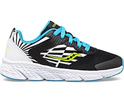 Wind Lace Sneaker, Black | White | Blue, dynamic