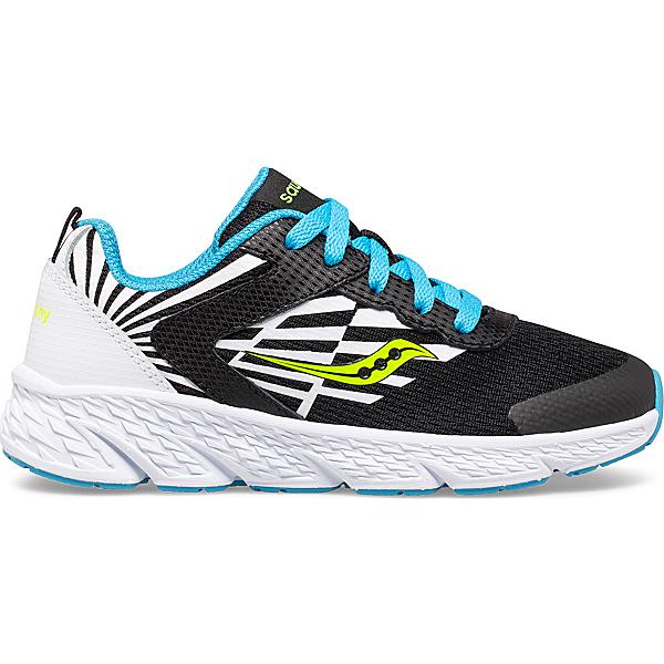 Wind Lace Sneaker, Black   White   Blue, dynamic
