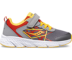 Wind A/C Sneaker, Grey | Red | Yellow, dynamic