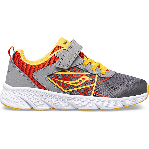 Wind A/C Sneaker, Grey   Red   Yellow, dynamic