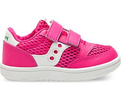 Baby Jazz Court Sneaker, Pink/White, dynamic