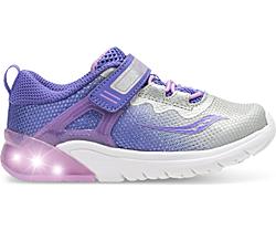 Flash Glow Jr. Sneaker, Purple | Silver, dynamic