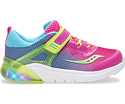 Flash Glow Jr. Sneaker, Pink Multi, dynamic