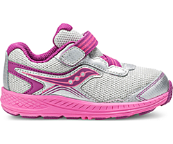 Ride 10 Jr. Sneaker, Silver | Pink, dynamic