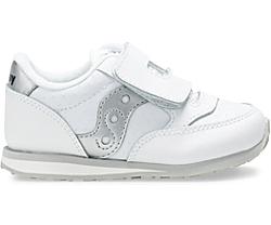 Big Kids Jazz Hook & Loop Sneaker, White Perf, dynamic