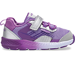 Wind Shield A/C Jr. Sneaker, Silver | Purple, dynamic