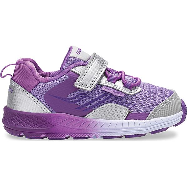 Wind Shield A/C Jr. Sneaker, Silver | Purple, dynamic