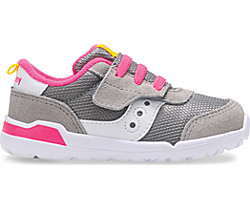 Jazz Riff Sneaker, Grey | Fuchsia, dynamic