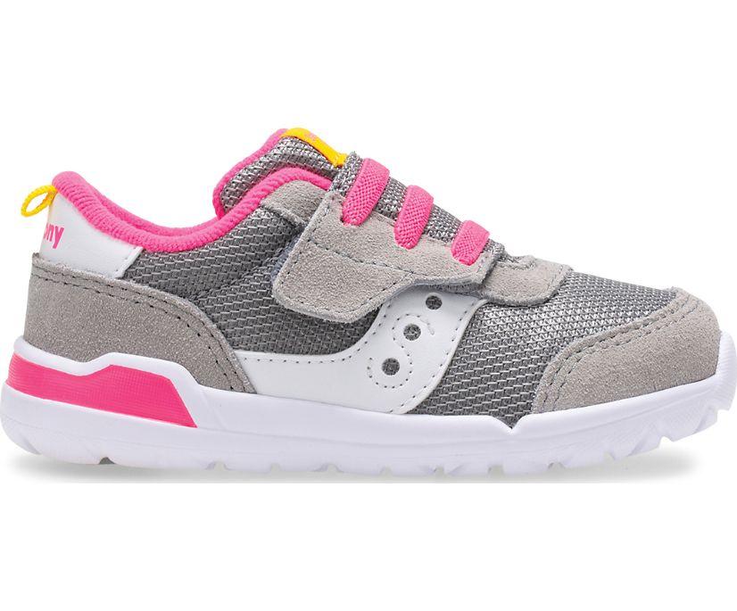 Jazz Riff Sneaker, Grey | Fuchsia, dynamic