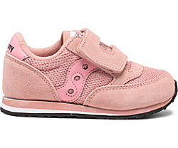 Big Kids Jazz Hook & Loop Sneaker, Pink Metallic, dynamic