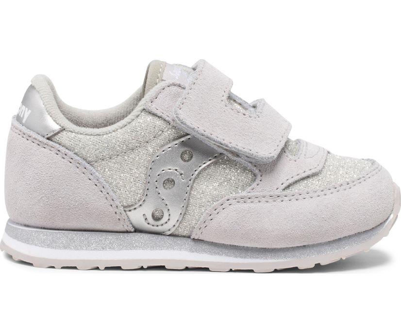 Baby Jazz Hook & Loop Sneaker, Silver Metallic, dynamic