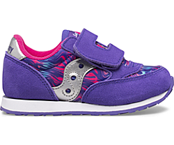 Big Kids Jazz Hook & Loop Sneaker, Purple Swirl, dynamic