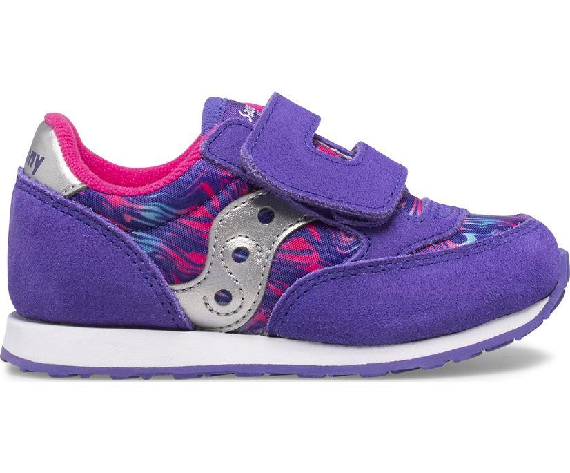 Jazz Hook & Loop Sneaker, Purple Swirl, dynamic