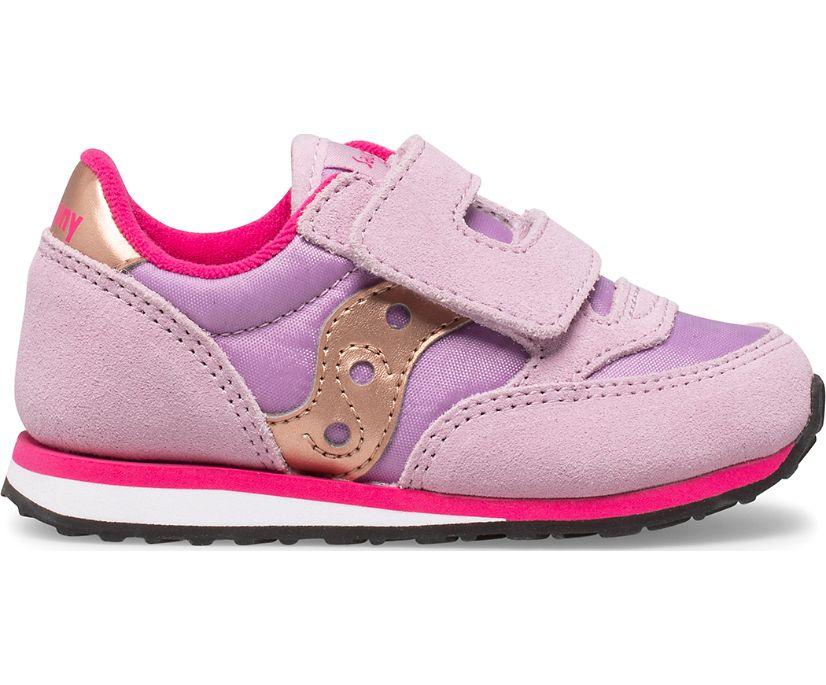 Baby Jazz Hook & Loop Sneaker, Mauve | Pink, dynamic