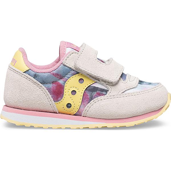 Baby Jazz Hook & Loop Sneaker, White | Pink Multi, dynamic