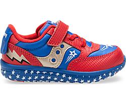 Baby Jazz Lite Sneaker, Red/Blue/Superhero, dynamic