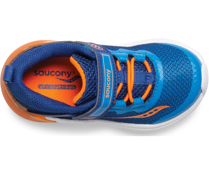 Flash Glow Jr. Sneaker, Blue | Orange, dynamic
