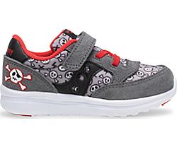 Baby Jazz Lite Sneaker, Grey | Red Pirate, dynamic