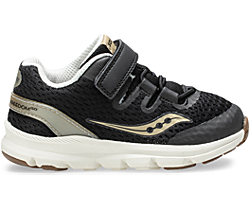 Baby Freedom ISO Sneaker, Black | Gold, dynamic