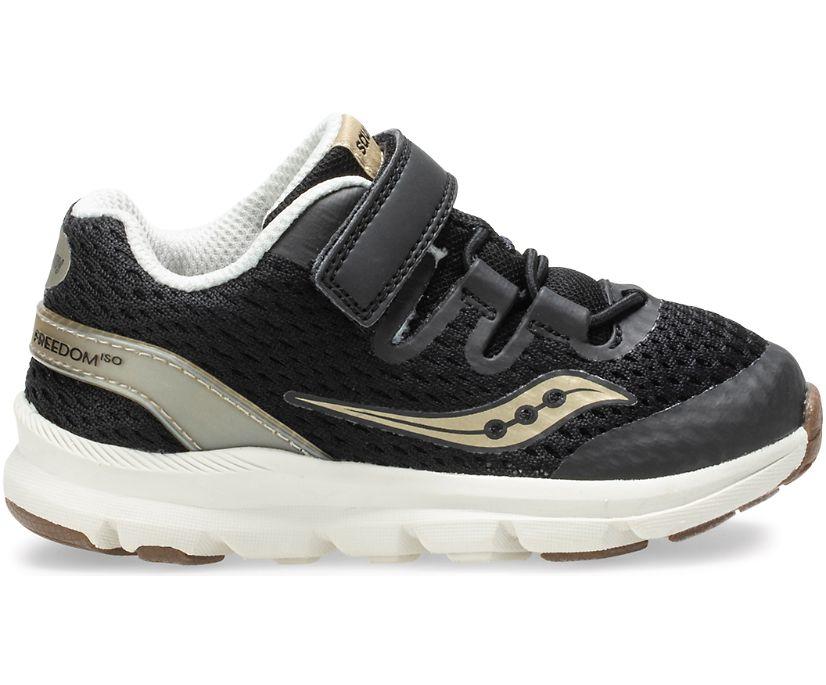 Baby Freedom ISO Sneaker, Black | Gold, dynamic