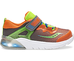 Flash Glow Jr. Sneaker, Grey | Green | Orange, dynamic