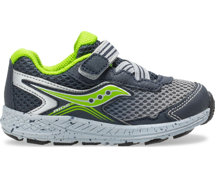 Ride 10 Jr. Sneaker, Navy | Green, dynamic