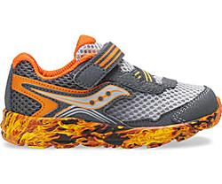 Ride 10 Jr. Sneaker, Grey | Orange Flame, dynamic