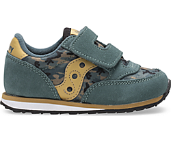 Baby Jazz Hook & Loop Sneaker, Green Camo, dynamic