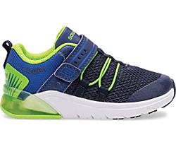 Flash Glow 2.0 Jr. Sneaker, Navy | Green, dynamic