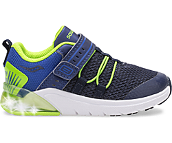 Flash Glow 2.0 Jr. Sneaker, Navy | Green, dynamic
