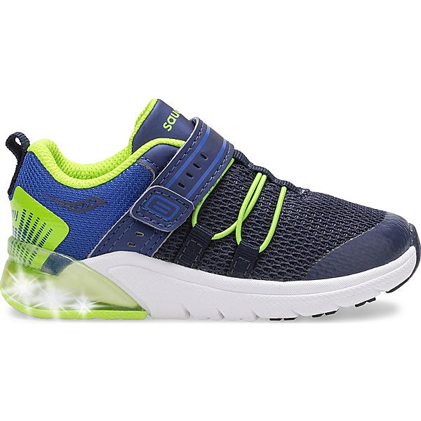 Flash Glow 2.0 Jr. Sneaker, Navy   Green, dynamic