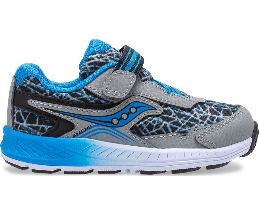 Ride 10 Jr. Sneaker, Grey | Blue | Black, dynamic