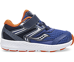 Cohesion 13 Jr. Sneaker, Navy | Orange, dynamic