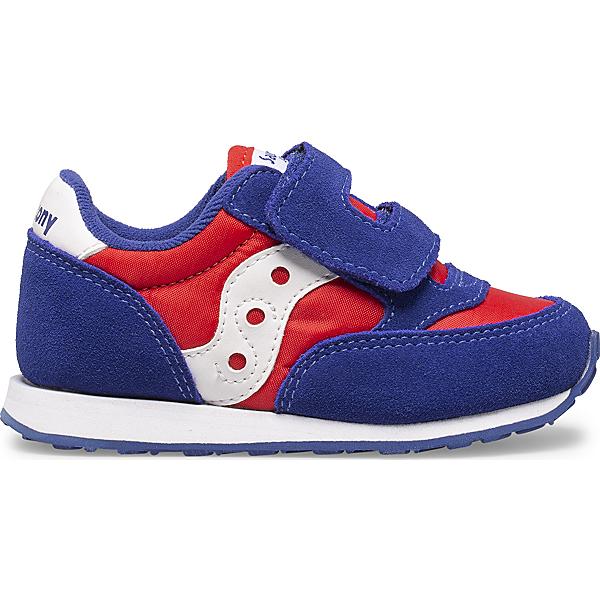 Baby Jazz Hook & Loop Sneaker, Red | White | Blue, dynamic