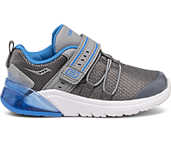 Flash Glow 2.0 Jr. Sneaker, Grey | Blue, dynamic