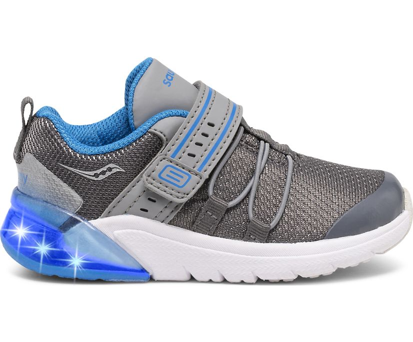 Flash Glow 2.0 Jr. Sneaker, Grey | Blue, dynamic