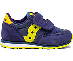 Baby Jazz Hook & Loop Sneaker, Navy | Green | Yellow, dynamic