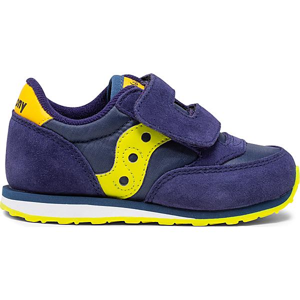 Baby Jazz Hook & Loop Sneaker, Navy | Green | Yellow, dynamic