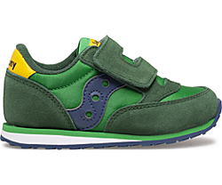 Baby Jazz Hook & Loop Sneaker, Green | Yellow | Blue, dynamic