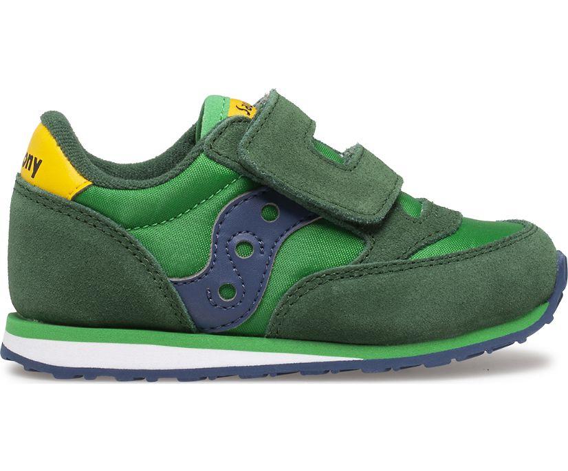 Baby Jazz Hook & Loop Sneaker, Green | Yellow | Blue, dynamic