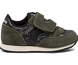 Baby Jazz Hook & Loop Sneaker, Dark Green Camo, dynamic