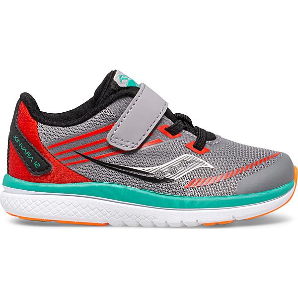Kinvara 12 Jr. Sneaker, Grey   Orange, dynamic