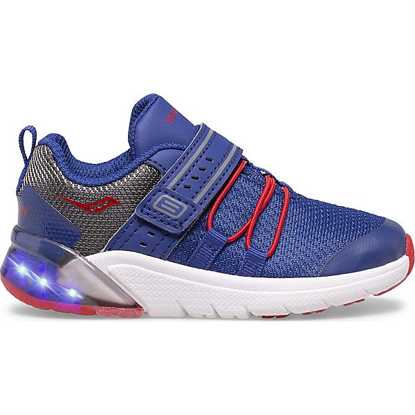 Flash Glow 2.0 Jr. Sneaker, Navy | Red | Grey, dynamic