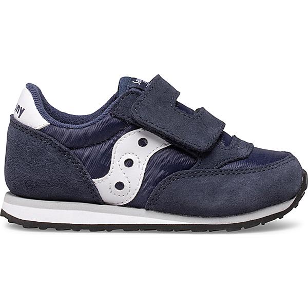 Baby Jazz Hook & Loop Sneaker, Navy | White, dynamic
