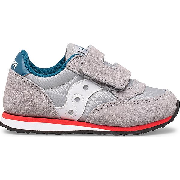 Baby Jazz Hook & Loop Sneaker, Grey | Blue | Red, dynamic