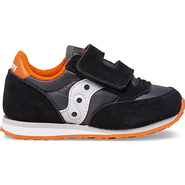 Baby Jazz Hook & Loop Sneaker, Black | Grey | Orange, dynamic