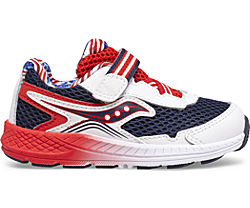 Ride 10 Jr. Sneaker, Red | White | Blue, dynamic